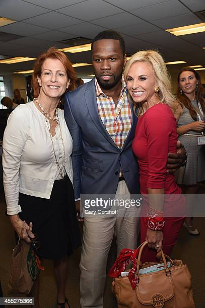 Curtis '50 Cent' Jackson and Television personality Elisabeth Hasselbeck attend Annual Charity Day Hosted by Cantor Fitzgerald and BGC at BGC...