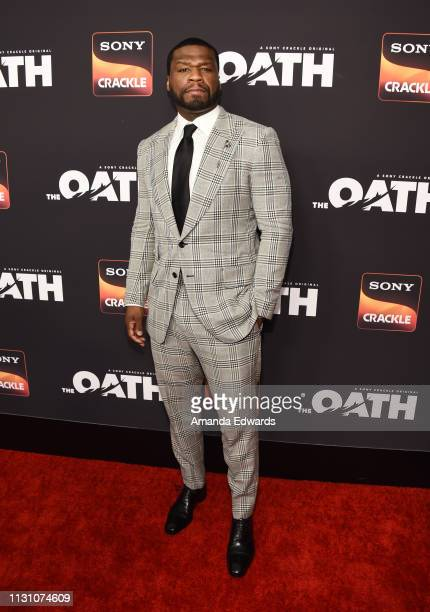Curtis '50 Cent' Jackson arrives at Sony Crackle's 'The Oath' Season 2 exclusive screening event at Paloma on February 20 2019 in Los Angeles...