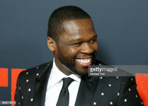 Curtis '50 Cent' Jackson arrives to Los Angeles premiere of STX Films' 'Den Of Thieves' held at Regal LA Live Stadium 14 on January 17 2018 in Los...