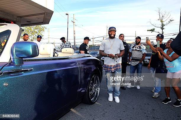 Curtis '50 Cent' Jackson at 50 Cent Effen Vodka bottle signing at Eastchester LWW on June 15 2016 in New York City
