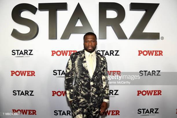 """Curtis """"50 Cent"""" Jackson at STARZ Madison Square Garden """"Power"""" Season 6 Red Carpet Premiere, Concert, and Party on August 20, 2019 in New York City."""