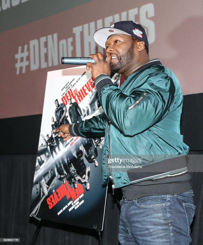 Curtis '50 Cent' Jackson at The Den of Thieves special screening at Regal South Beach on January 10, 2018 in Miami, Florida.