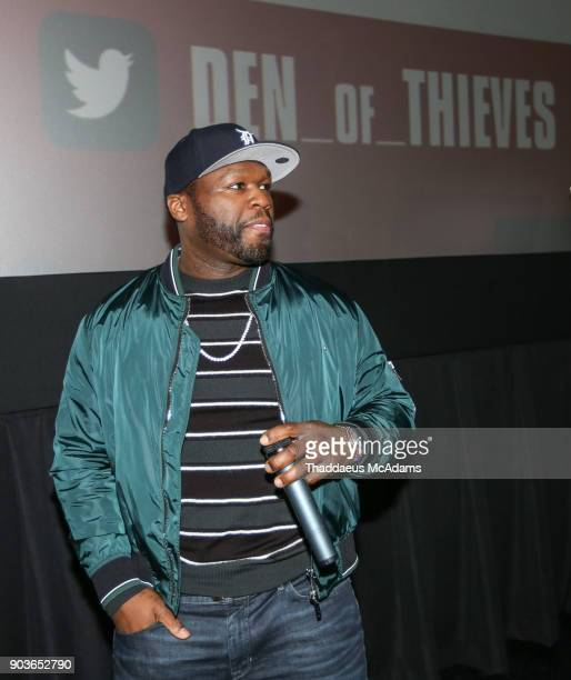 Curtis '50 Cent' Jackson at The Den of Thieves special screening at Regal South Beach on January 10 2018 in Miami Florida