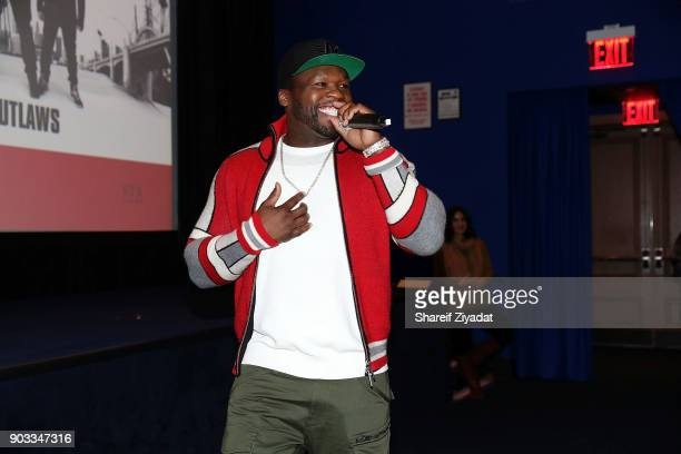 Curtis '50 Cent' Jackson attend 'Den Of Thieves' Private Screening at the Whitby Hotel on January 9 2018 in New York City