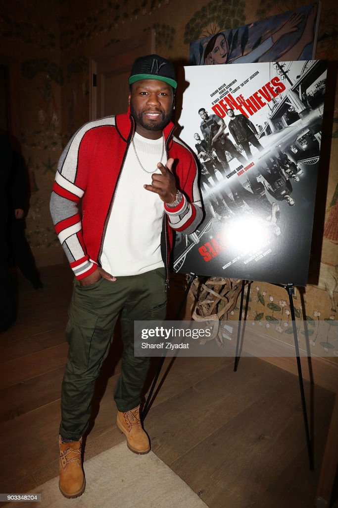 Curtis '50 Cent' Jackson attend 'Den Of Thieves' Private Screening at the Whitby Hotel on January 9, 2018 in New York City.