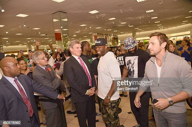 Curtis' 50 Cent' Jackson attends '50 Cent Meets Fans At SMS Audio Launch' at Nordstrom Roosevelt Field on June 13 2014 in Garden City