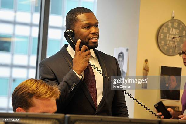 Curtis 50 Cent Jackson attends Annual Charity Day hosted by Cantor Fitzgerald and BGC at BGC Partners INC on September 11 2015 in New York City