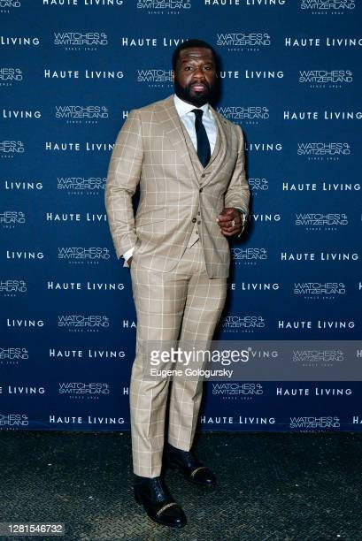 """Curtis """"50 Cent"""" Jackson attends the Haute Living Celebration of 50 Cent With Watches Of Switzerland on October 21, 2020 in New York City. (Photo by..."""