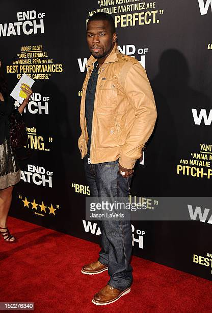 Curtis '50 Cent' Jackson attends the premiere of 'End of Watch' at Regal Cinemas LA Live on September 17 2012 in Los Angeles California