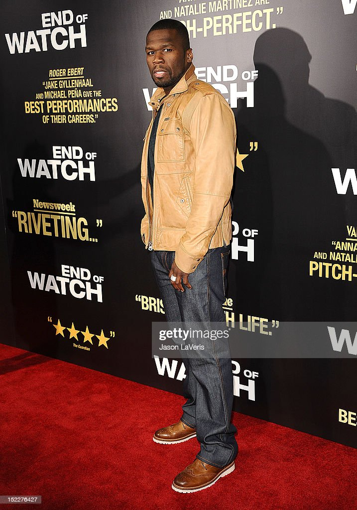 Curtis '50 Cent' Jackson attends the premiere of 'End of Watch' at Regal Cinemas L.A. Live on September 17, 2012 in Los Angeles, California.