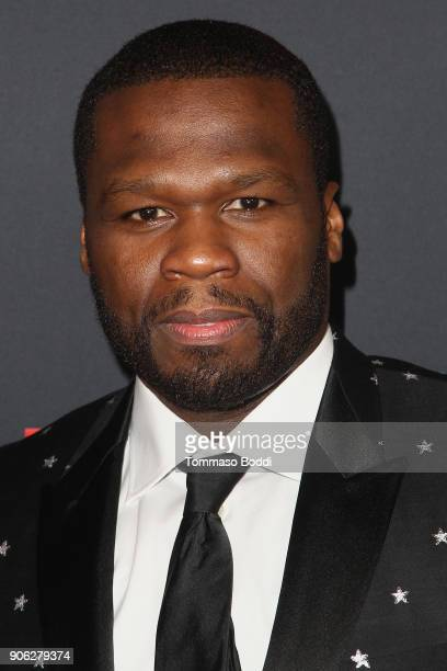 Curtis 50 CENT Jackson attends the Premiere Of STX Films' 'Den Of Thieves' at Regal LA Live Stadium 14 on January 17 2018 in Los Angeles California