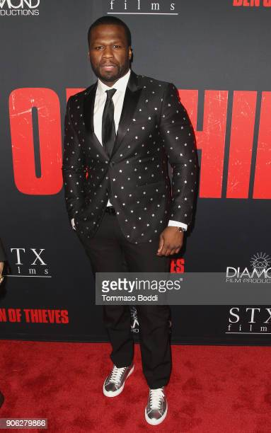 Curtis '50 cent' Jackson attends the Premiere Of STX Films' 'Den Of Thieves' at Regal LA Live Stadium 14 on January 17 2018 in Los Angeles California