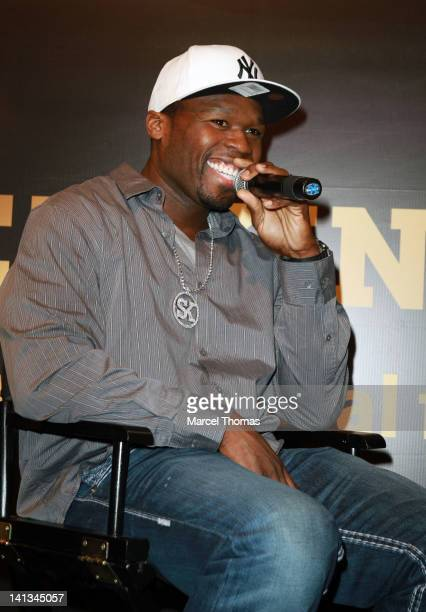"""Curtis """"50 Cent"""" Jackson makes an appearance in support of Street King Energy drink at the 27th Annual Nightclub and Bar Convention at Las Vegas..."""