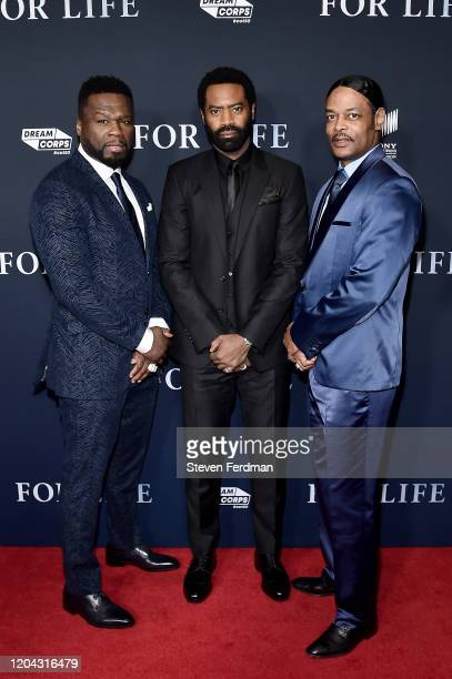 Curtis 50 Cent Jackson Nicholas Pinnock and Isaac Wright Jr attend the New York Premiere of ABC's For Life at Alice Tully Hall Lincoln Center on...