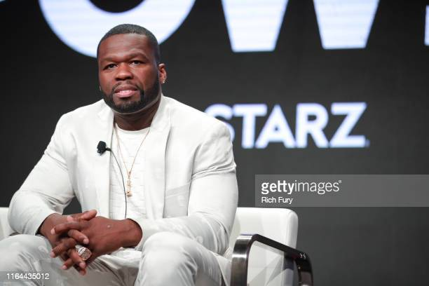 Curtis 50 Cent Jackson of 'Power' speaks onstage during the Starz segment of the Summer 2019 Television Critics Association Press Tour at The Beverly...