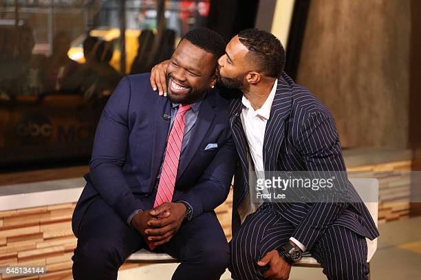 AMERICA Curtis 50 Cent Jackson Omari Hardwick are guests on Good Morning America 7/5/16 airing on the Walt Disney Television via Getty Images...