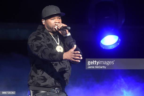 Curtis '50 cent' Jackson performs onstage during the Starz 'Power' The Fifth Season NYC Red Carpet Premiere Event After Party on June 28 2018 in New...