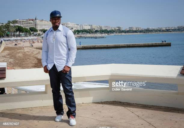 Curtis 50 Cent Jackson poses during the photocall of 'Power' at MIPTV 2014 at Hotel Majestic on April 7 2014 in Cannes France