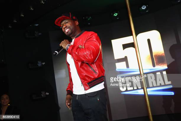 Curtis 50 Cent Jackson speaks on stage at BET's 50 Central Premiere Party on September 25 2017 in New York City