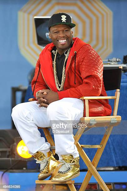 "Curtis ""50 Cent"" Jackson visits ABC's ""Good Morning America"" at Rumsey Playfield on May 30, 2014 in New York City."