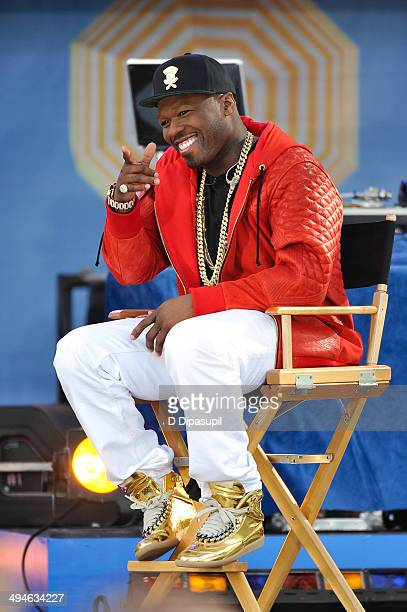 Curtis '50 Cent' Jackson visits ABC's 'Good Morning America' at Rumsey Playfield on May 30 2014 in New York City