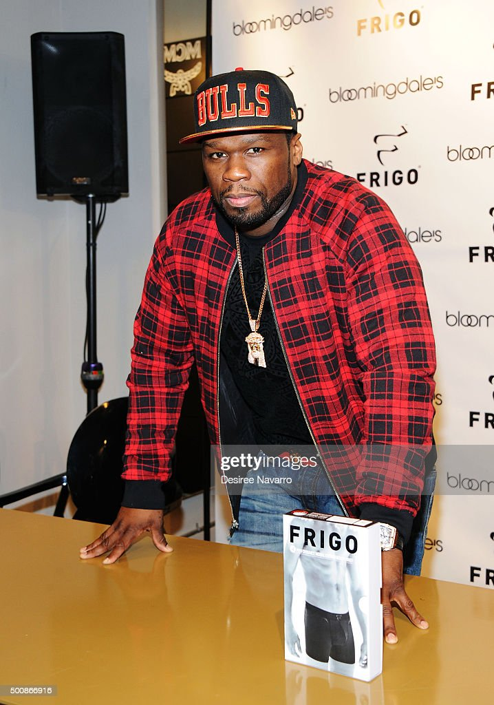 "Curtis ""50 Cent"" Jackson Visits Bloomingdale's Soho"