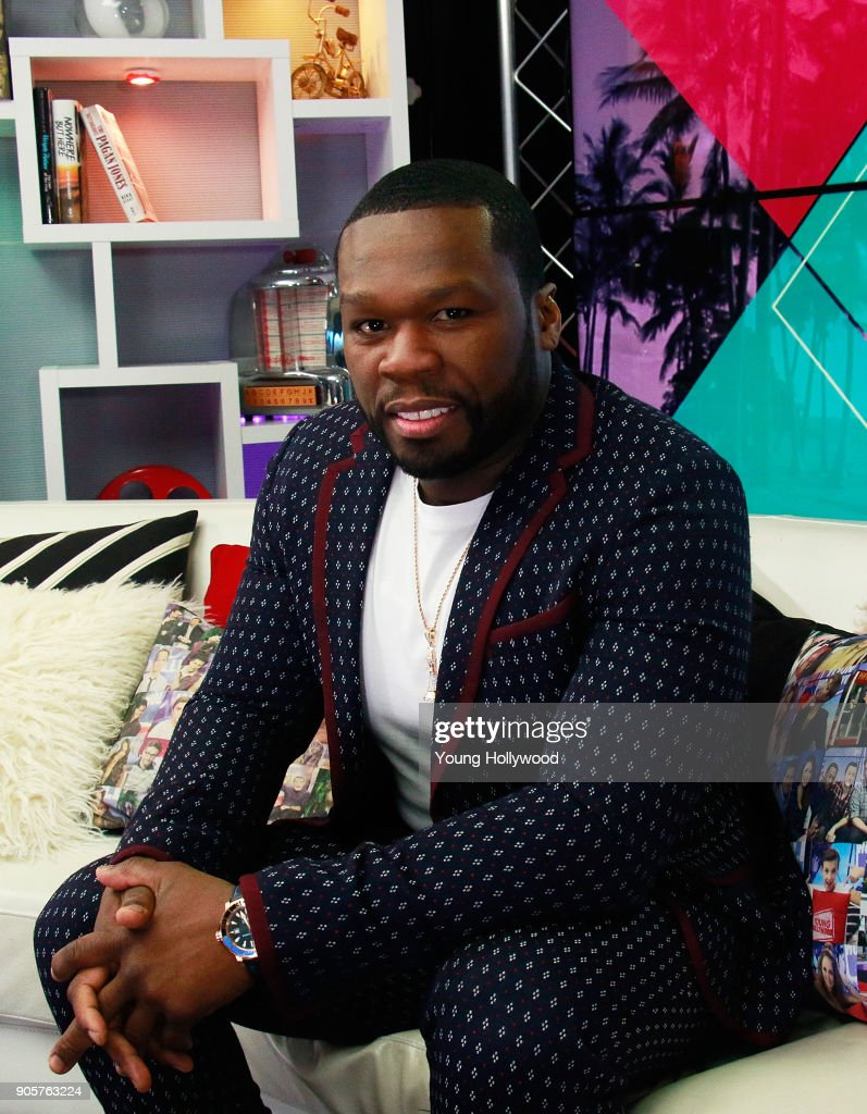 Curtis '50 Cent' Jackson visits the Young Hollywood Studio on January 16, 2017 in Los Angeles, California.