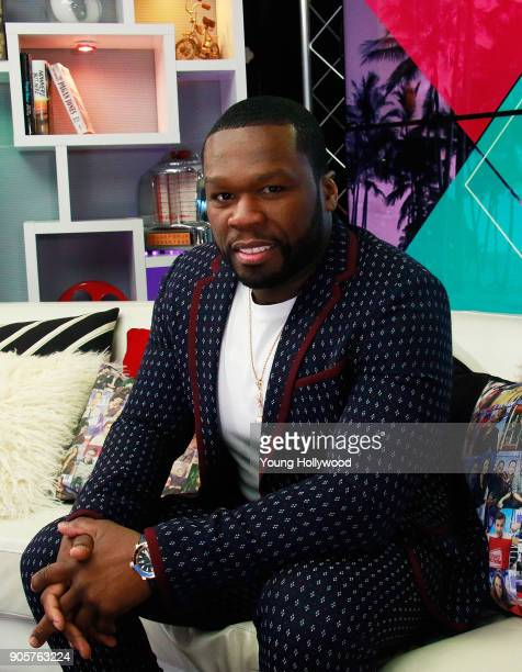 Curtis '50 Cent' Jackson visits the Young Hollywood Studio on January 16 2017 in Los Angeles California