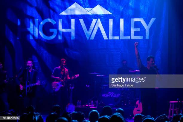Curtis and Brad Rempel of 'High Valley' perform onstage during The Highway Finds Tour at the Gramercy Theatre on October 21 2017 in New York City