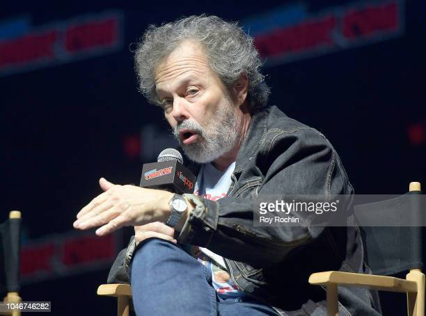 Curtis Armstrong speaks onstage at the American Dad panel during 2018 New York Comic Con at on October 6 2018 in New York City