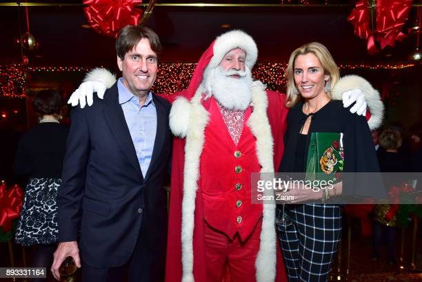 Curtis Bashaw Santa Claus and Colleen Bashaw attend A Christmas Cheer Holiday Party 2017 Hosted by George Farias and Anne and Jay McInerney at The...