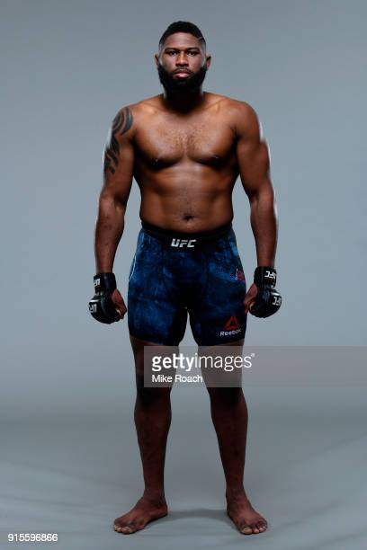Curtis Blaydes poses for a portrait during a UFC photo session on February 7 2018 in Perth Australia