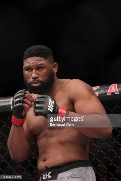 Curtis Blaydes prepares before the heavyweight bout during the UFC Fight Night event against Francis Ngannou in at Cadillac Arena on November 24 2018...