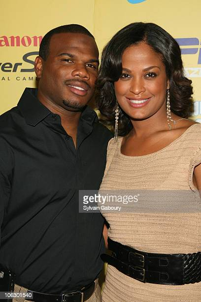 Curtis Conway and Laila Ali during ESPN Magazine Summer Fun Party - Arrivals at Pier 59 at Chelsea Piers in New York City, New York, United States.