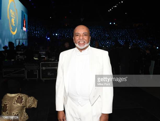 A Curtis Farrow appears backstage during Peace Starts With Me concert at Nassau Coliseum on November 12 2018 in Uniondale New York