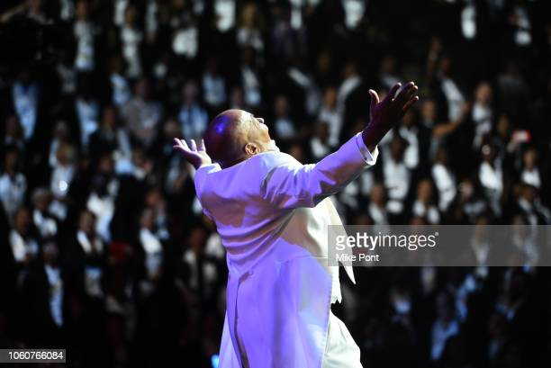 A Curtis Farrow appears on stage during Peace Starts With Me concert at Nassau Coliseum on November 12 2018 in Uniondale New York