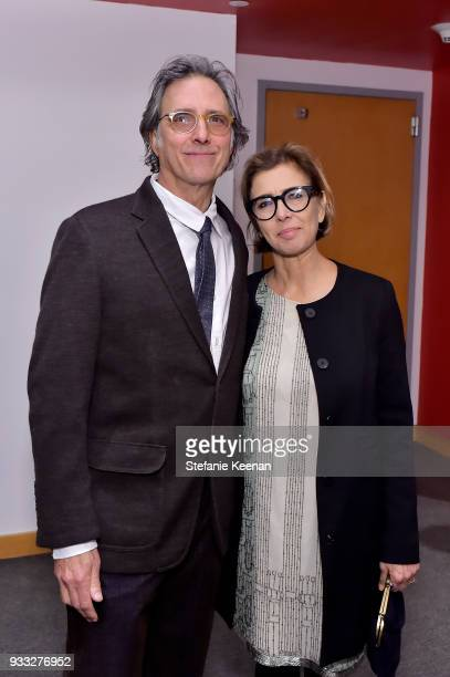 Curtis Freilich and Mireille Soria attend The CalArts REDCAT Gala Honoring Charles Gaines and Adele Yellin on March 17 2018 in Los Angeles California