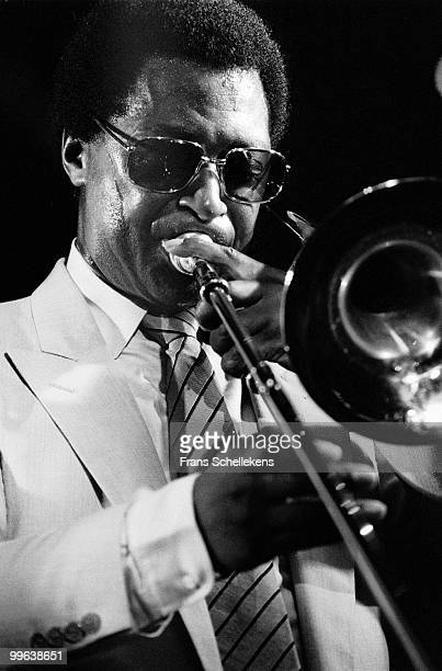 Curtis Fuller performs live on stage at the Jazz Mobile festival in Amsterdam, Netherlands on September 05 1982