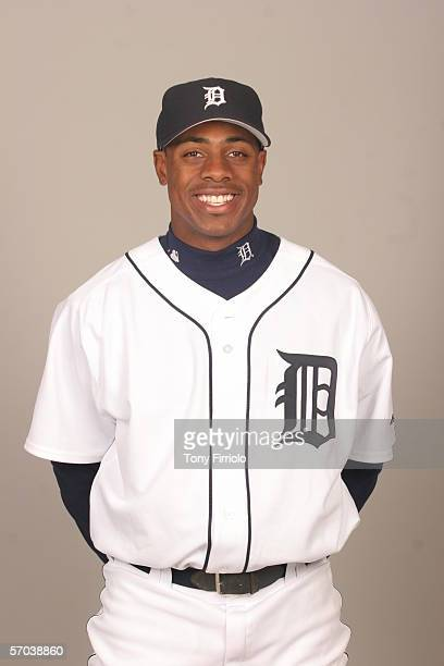 Curtis Granderson of the Detroit Tigers during photo day at Marchant Stadium on February 26 2006 in Lakeland Florida