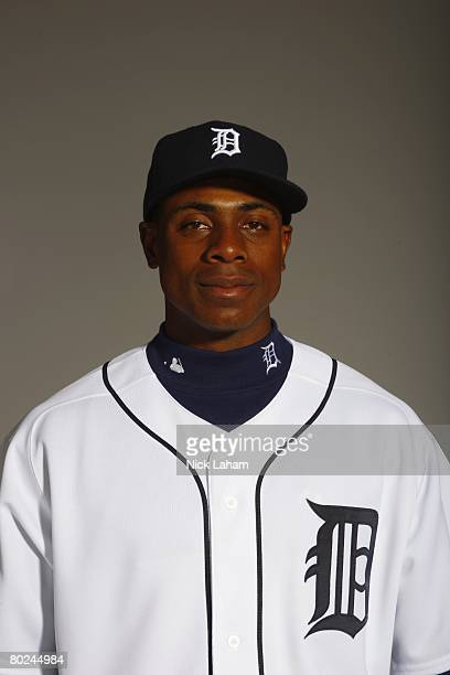 Curtis Granderson of the Detroit Tigers poses for a portrait during Photo Day on February 23 2008 at Joker Marchant Stadium in Lakeland Florida