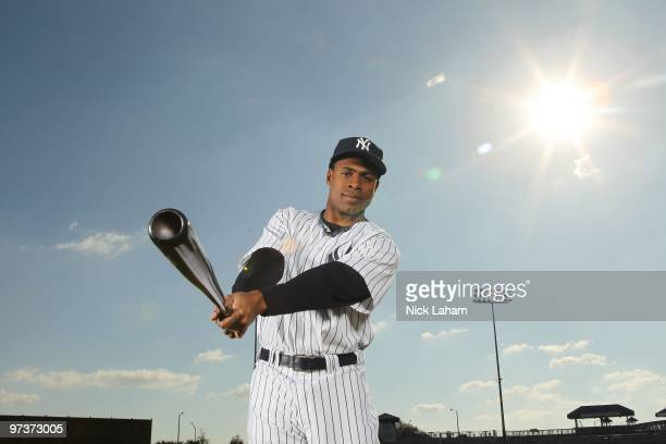 Curtis Granderson of the New York Yankees poses for a photo during Spring Training Media Photo Day at George M Steinbrenner Field on February 25 2010...