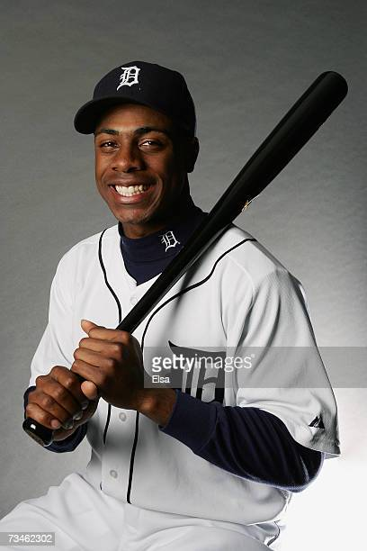 Curtis Granderson poses for a portrait during the Detroit Tigers Photo Day on February 24 2007 at Joker Marchant Stadium in Lakeland Florida