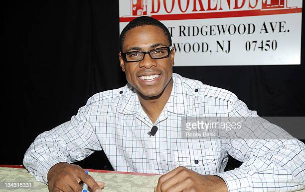 """Curtis Granderson promotes """"All You Can Be"""" at Bookends Bookstore on November 30, 2011 in Ridgewood, New Jersey."""