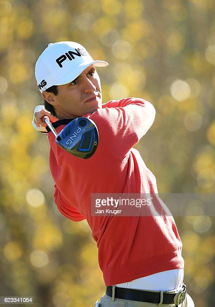 Curtis Griffiths of England in action during the fourth round of the European Tour qualifying school final stage at PGA Catalunya Resort on November...