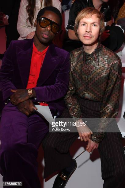 Curtis Harding and Beck attend the Gucci show during Milan Fashion Week Spring/Summer 2020 on September 22 2019 in Milan Italy