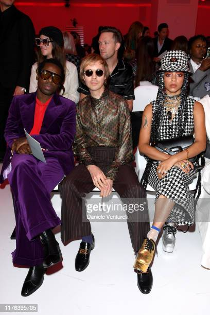 Curtis Harding Beck and Kelsey Lu attend the Gucci show during Milan Fashion Week Spring/Summer 2020 on September 22 2019 in Milan Italy