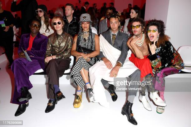 Curtis Harding Beck Kelsey Lu Ghali Jeffertitti Moon and Dani Miller attend the Gucci show during Milan Fashion Week Spring/Summer 2020 on September...