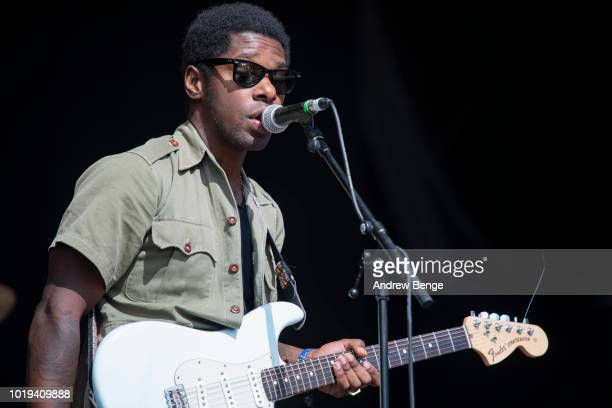 Curtis Harding performs on the Mountain stage during day 3 at Greenman Festival on August 19, 2018 in Brecon, Wales.