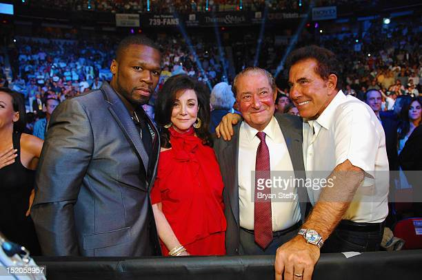 Curtis Jackson aka 50 Cent Lovee Arum Bob Arum and Steve Wynn attend the Chavez Jr vs Martinez Fight at the Thomas Mack center cosponsored by the...