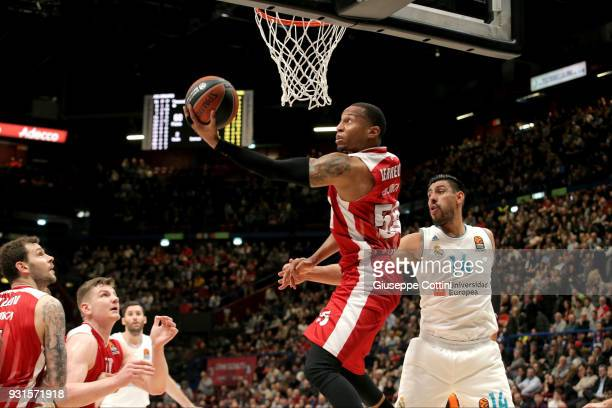 Curtis Jerrells #55 of AX Armani Exchange Olimpia Milan in action during the 2017/2018 Turkish Airlines EuroLeague Regular Season Round 26 game...